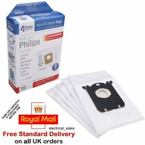 FITS PHILIPS ZANUSSI ELECTROLUX VACUUM CLEANER MICROFIBRE S CLASS DUST BAGS x 5