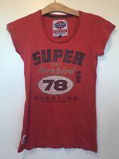 Superdry 'Firebird Gasoline' Red T Shirt - Size S