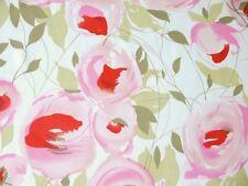 Kimono Seide Große Rosen Meterware