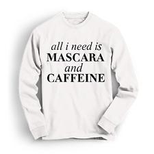 Mascara And Caffeine Long Sleeve Tee Tshirt