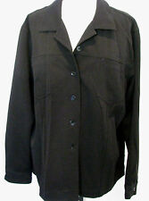 CHICOS DESIGN Black Jacket With Mother of Pearl Front Buttons Size 3