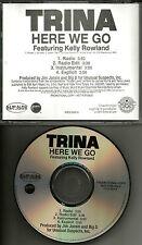 TRINA w/ KELLY ROWLAND Here we go w/ EDITS & INSTRUMENTAL PROMO DJ CD single