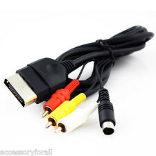 AV Audio Video A/V + S-Video Cable Cord for Microsoft Xbox Console Video Game