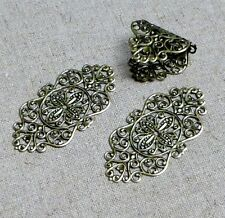 Antique Bronze Filigree Component - pack of 10