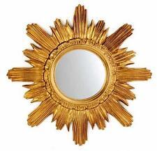 BAROCK Antik Wandspiegel Spiegel SONNE Runder Spiegel in GOLD 42x42 cm 2