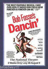 "Bob Fosse ""DANCIN"" Hinton Battle 1980 National Theatre, Washington D.C. Flyer"