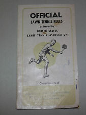 Vintage 1950-60S Us Lawn Tennis Official Rules Gloversville Ny Booklet