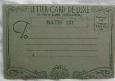 Letter Card DeLuxe 6 Views Hand Colored Views Bath Solograph Series 2