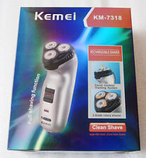 Rechargeable 3 blades Head Cordless Shaver Trimmer Razor Full Shaving Functions