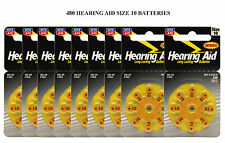 (480 Batteries) Size 10 Hearing Aid Batteries 10AE 10A Battery = Duracell