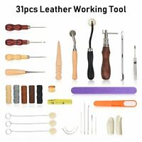 Leather Sewing Tools Home DIY Leather Craft Tools Hand Stitching Tool Set  31Pcs