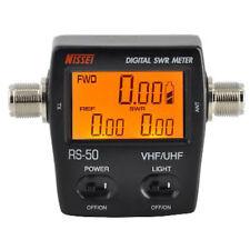 NISSEl RS-50 Digital SWR & Power Meter 125-525 Mhz UHF/VHF For 2 Way Radios