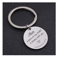 Mum Keyring A Piece Of My Heart Is Always With You Mothers Day Keepsake Gift