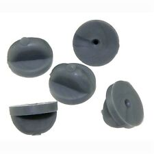 Lot 50 Grey Rubber Lapel Hat Tie Pin Backs Holder Clasp for Military Sports pins