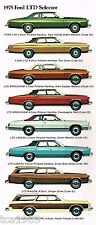 1975 FORD LTD Brochure / Catalog: BROUGHAM,LANDAU,Country Squire Station Wagon,F