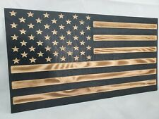 """19"""" Black and Burnt American Flag handgun concealment cabinet hidden gun storage"""