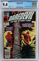 NEWSSTAND VARIANT CGC 9.4 White pages, Daredevil #270 1st Blackhart, PRESS IT!