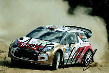 Mads OSTBERG & Jonas ANDERSSON WRC SIGNED AUTOGRAPH 12x8 Citroen Photo AFTAL COA