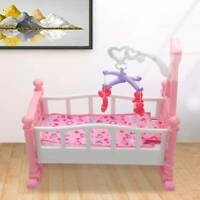 Creative Baby Gifts Creative Pink Dolls Rocking Cradle Crib Cot Bed Girls Toy