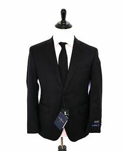 "$1,295 ERMENEGILDO ZEGNA -By SAKS 5TH AVENUE SILK BLEND ""MODERN"" Black Suit- 40S"