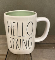 Rae Dunn By Magenta - LL HELLO SPRING W Green Interior Coffee Mug - Easter