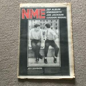 NME magazine August 1979 Iconic Ian Curtis Joy Division cover and article