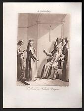 santino incisione acquatinta 1800 S.ROSA DA VITERBO