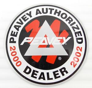 Peavey Vintage 2000 Authentic Authorized Music Dealer TWO SIDED Window Decal NOS
