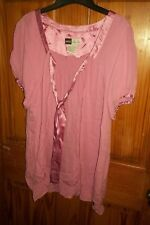 SIMPLY Chloe Dao Blouse Top Shirt Womens size small pink  peasant Silk very EUC