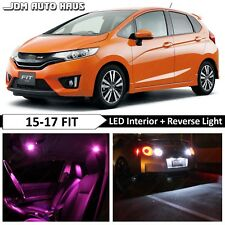 Pink Interior Reverse LED Lights Bulb Package Kit Fits Honda Fit 2015 2016 2017