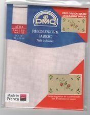 DMC DC27IRI/818 Pink Iridescent Aida 35 x 45cm  Ideal for Cross Stitch
