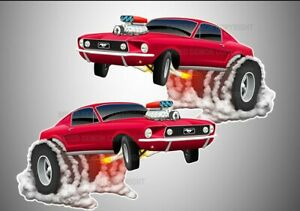 """Ford Mustang Stickers Vinyl Decals '68 Fastback Classic Car 3"""", 5"""", 7"""" or 9"""""""
