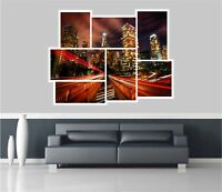 Huge Collage View Fantasy Night City Wall Stickers Mural Wallpaper 358
