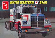 AMT 724 White Western Star Semi Tractor plastic model kit 1/25