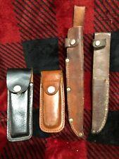 Vintage lot Leather Knife Sheaths