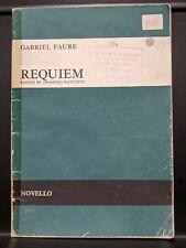 More details for faure: requiem satb & orchestra (with soprano & baritone solo) vocal score
