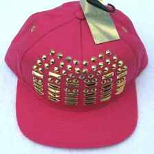 Nicki Minaj Pink Gold Studs Kiss Pretty Gang Snapback Hat Cap Adjustable