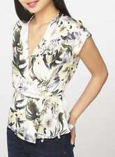 BNWT Dorothy Perkins Short Sleeved Floral Wrap Blouse Top 12 Petite