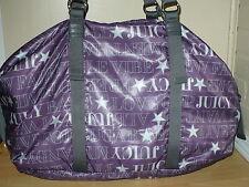 NEW JUICY COUTURE NYLON WEEKENDER TRAVEL DUFFEL HUGE PURSE BAG PURPLE $198