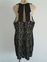 Size L / 18-20 CITY CHIC 100% cotton black crochet lace dress