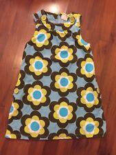 Girls Size 7 8 Mini Boden Corduroy Romper Dress Blue Green Brown Sleeveless Line