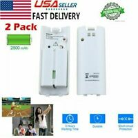 2x Rechargeable Dual Battery Pack 2800mAh Replacement for Wii Remote Controller