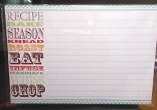 GINA B DESIGNS KITCHEN WORDS 20 4X6 RECIPE CARDS LINED ON BOTH SIDES