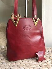 Pelletteria genuine leather vintage handbag shoulder bag Italy