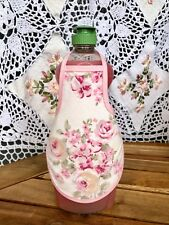 Pink Ashwell Rose Shabby French Country Chic Soap Lotion Bottle Apron fits 25 oz