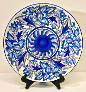 """Charlotte Rhead A.G. Richardson Crown Ducal """"Blue Peony"""" Charger, 4016, c. 1930s"""