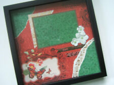 Family Shadowbox, Family Scrapbook Photo Frame, Ready for 4 by 6 photos 12 by 12