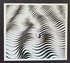 """Victor Vasarely """"Movement Study"""" Mounted b/w Offset Lithograph 1971"""