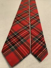 The Children's Place Youth Boy Tie 38� Long Red Plaid