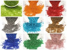 5000 Glass Mini Beads silver lined 2mm (10/0) + Storage Box Pick Your Colour